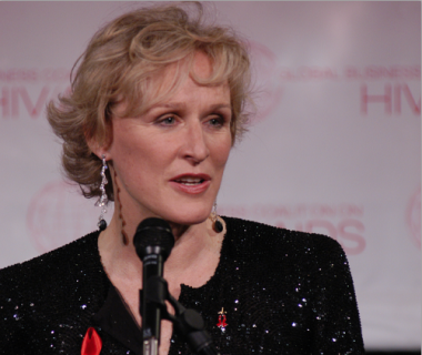 Glenn Close, MC, Global Coalition on HIV/AIDS Gala Dinner