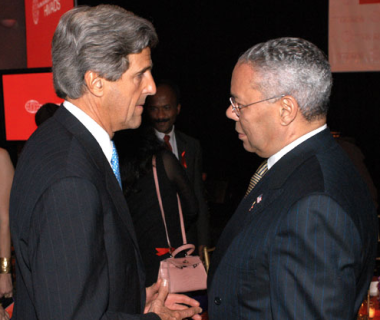 John Kerry and Colin Powell, Guest Speakers, Global Coalition on HIV/AIDS Gala Dinner